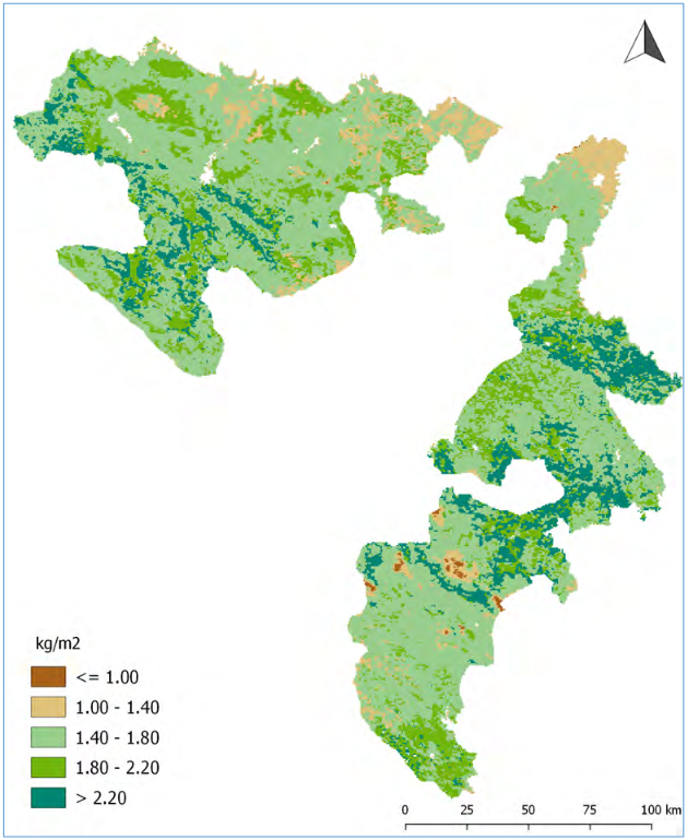 GIS-based Spatial-Temporal analysis of the biomass